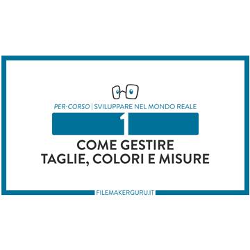 Gestire taglie/colori/misure logo