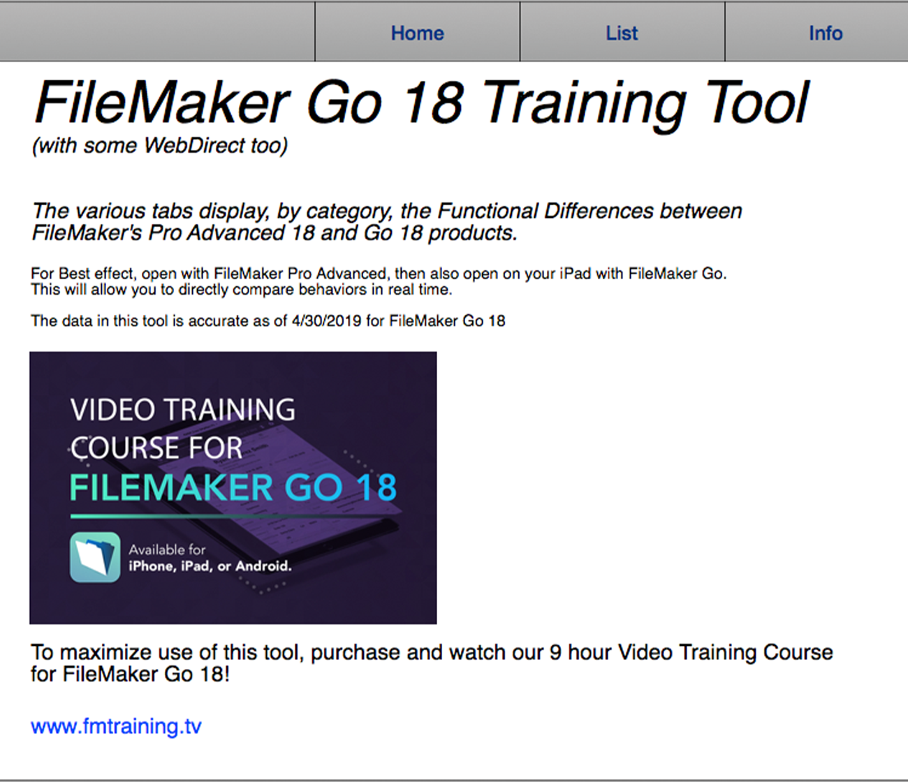 Filemaker Pro Courses go 18 - filemaker marketplace
