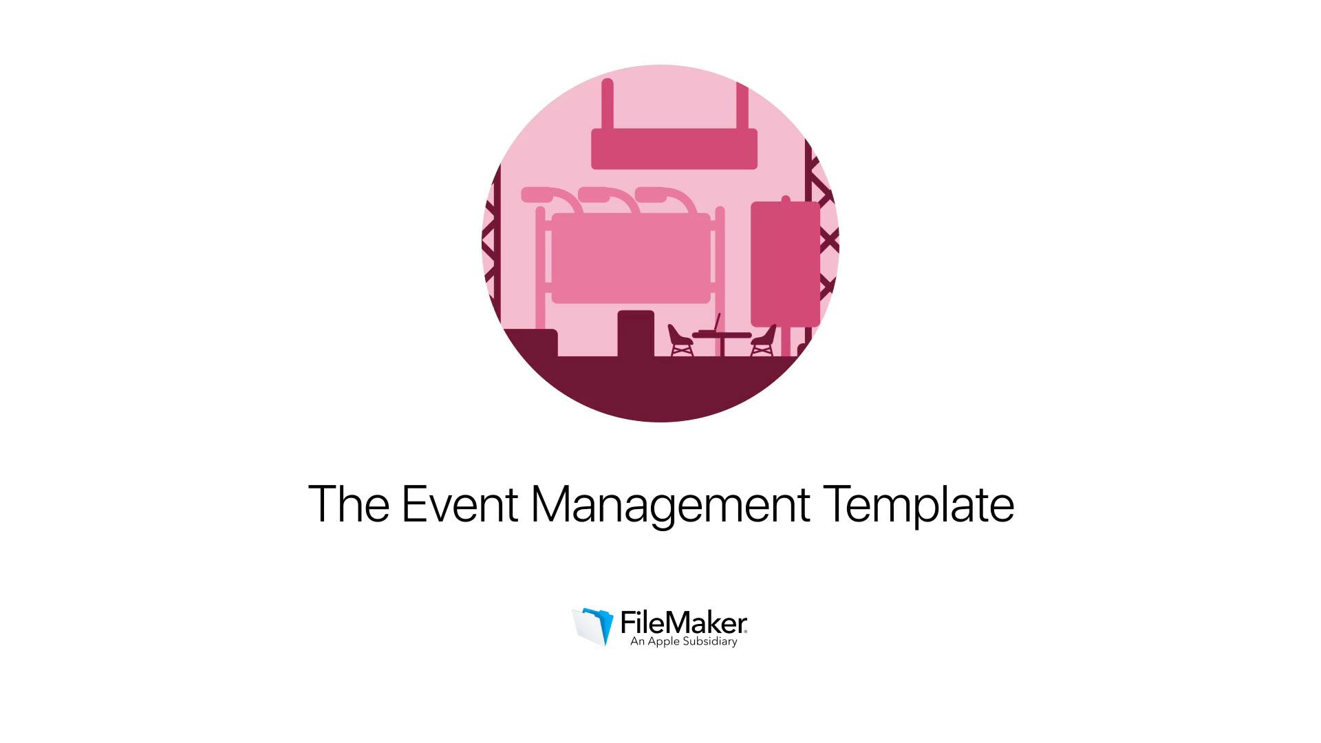 Event Management Filemaker Templates
